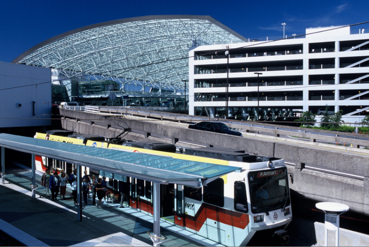 Portland's glass canopy and great public transport  give it high marks (Port of Portland)
