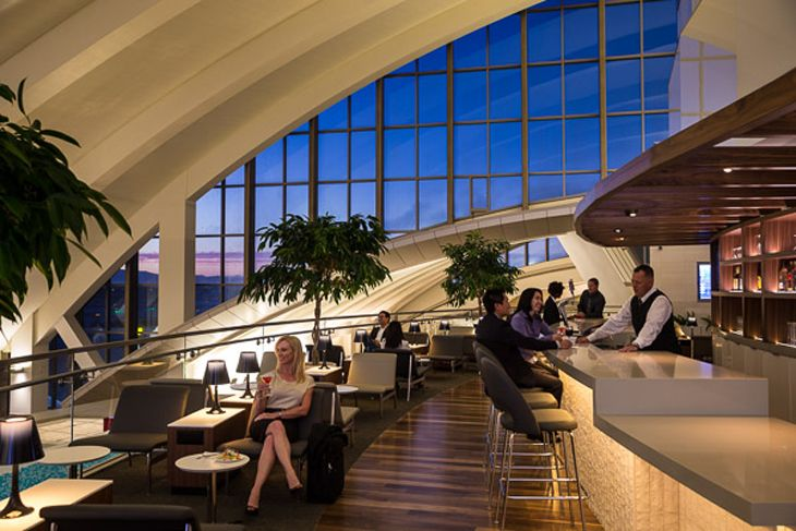 The nice new Star Alliance lounge at LAX's new Tom Bradley International Terminal (Air New Zealand)