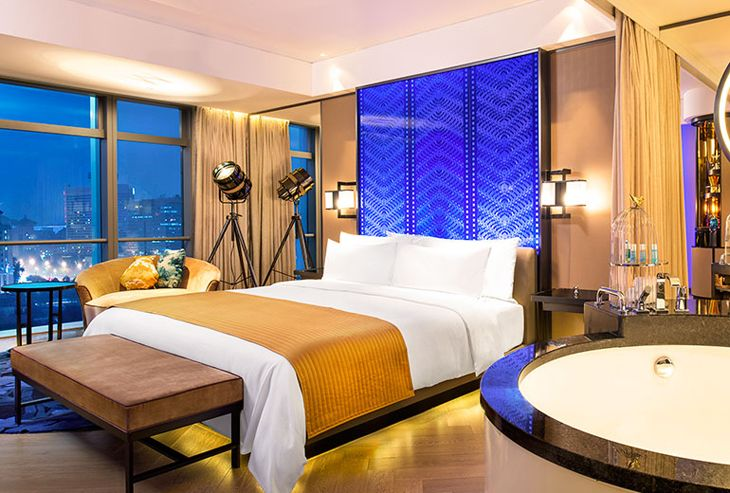 A room at the new W Beijing located near the Forbidden City (Photo: Starwood)