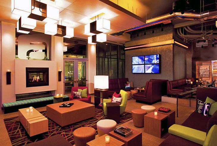 Lobby of Aloft Denver Downtown Hotel (Photo: Starwood Hotels)