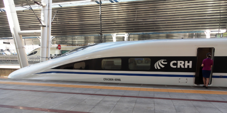 A Chinese high speed train at the West Beijing station (Photo: Fabio Achilli / Flickr)
