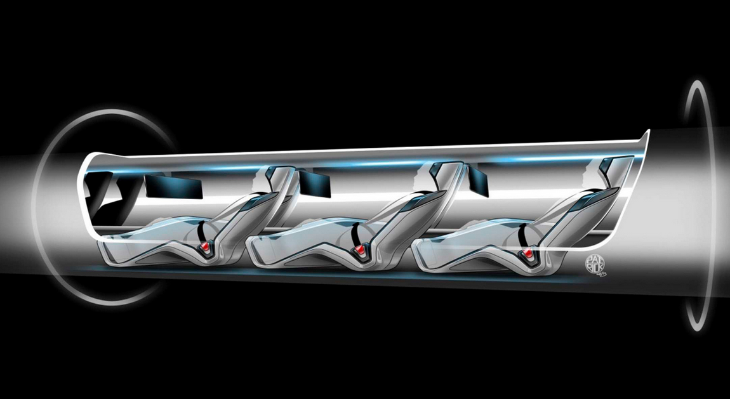Elon Musk describes his Hyperloop as a cross between a Concorde, rail gun and air-hockey table and it will be solar powered.