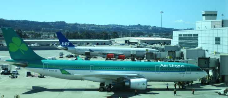 A big green Aer Lingus A330 at SFO (Photo: Chris McGinnis)