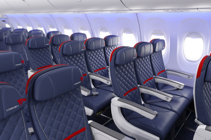 Delta's new Comfort + seat offers more legroom, but that's about it (Photo: Delta)