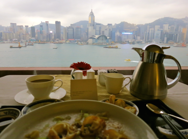 The view from my room at the InterContinental Hong Kong in Kowloon. Wow! (Photo: Chris McGinnis)