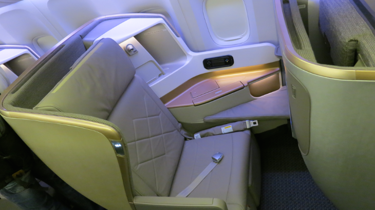 You can now get this new business class seat from Singapore at a discount using United miles (Photo: Chris McGinnis)