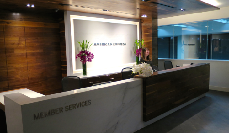 Check in at the new American Express Centurion lounge at SFO (Photo: Chris McGinnis)