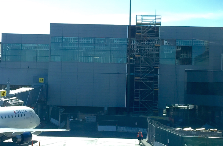Delta's making progress on the new Sky Club at SFO's Terminal 1 (Photo: Chris McGinnis)