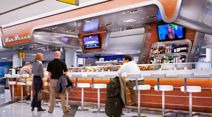 Delta's swank LaGuardia facilities (Photo: ICRAVE Design)