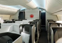 Lie-flat comfort on Air Canada's new Business Class Transcon flights (Photo Air Canada)