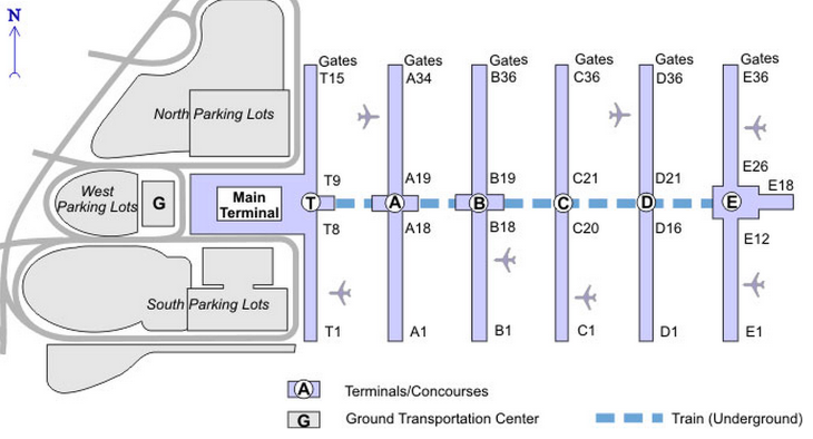 """United's new digs in the """"T-gates"""" Concourse- no train ride required (Photo: Atlanta Airport)"""