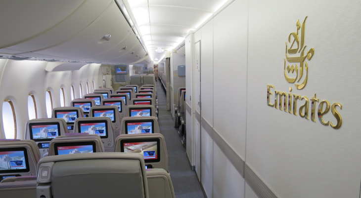 Emirates amazing 2-4-1 deal for economy class seats like these on a new A380 (Photo: Chris McGinnis)