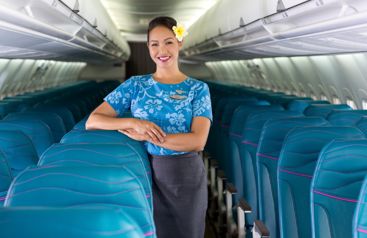 Say Aloha to Hawaiian's new slimline seats. (Photo: Hawaiian)