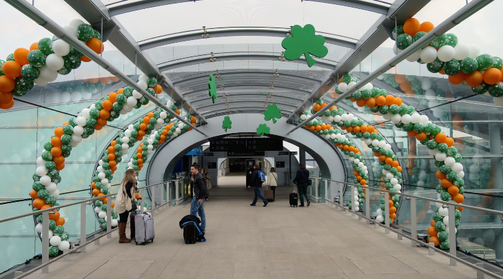 TravelSkills editor Chris McGinnis is in Dublin this week as it prepares for St Patrick's Day-- as seen here at the airport. Stay tuned for updates and a review of Aer Lingus brand new lie-flat business class seat (Photo: Chris McGinnis)