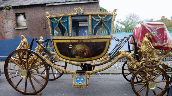 An early look at the carriage for the parade's grand marshall (Chris McGinnis)