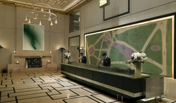 Front desk at the London hotel NYC