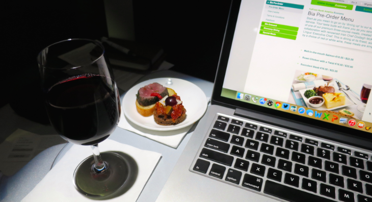 Nice big tray table! For our post on inflight dining on AerLingus, click here!