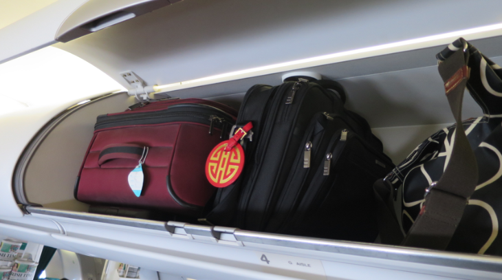 Plenty of overhead bin space in business class (Chris McGinnis)