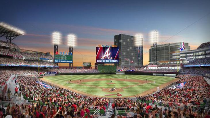 Rendering of the new SunTrust Park