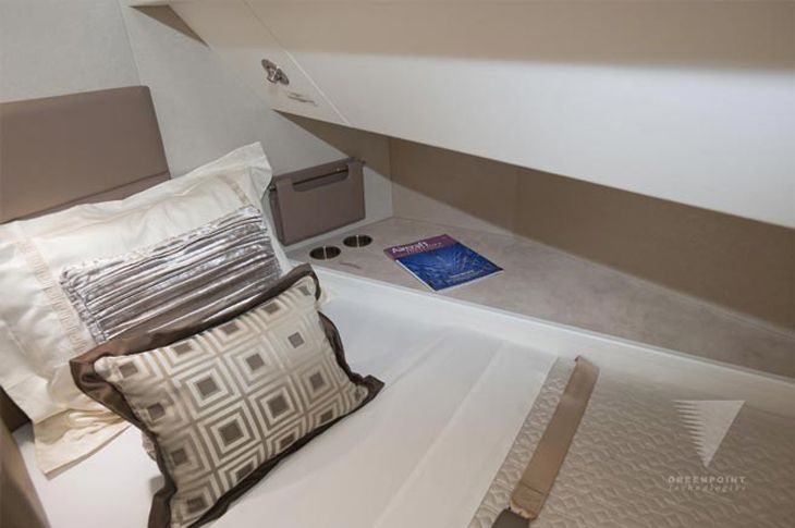 "The special 747 can also sleep at least eight guests in its ""Aeroloft,"" a sleeping section built behind the upper deck and accessible from the main deck by a customized staircase. Here's one of the berths."