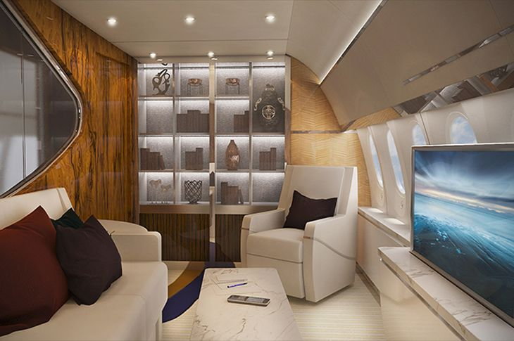 "The 787-9 comes equipped with this ""guest lounge,"" with an accompanying guest bedroom."