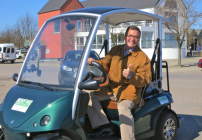 Taking a spin around Copenhagen in an electric car was a blast two years ago- now it's a lot cheaper! (Chris McGinnis)