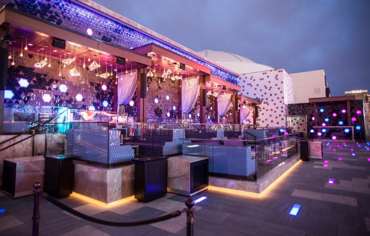 The quiet outdoor terrace at Omnia. Inside, DJs create a louder scene (Photo: Omnia)