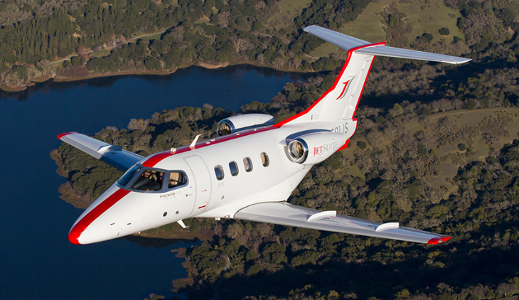This Phenom 100 jet from JetSuite seats six (JetSuite)