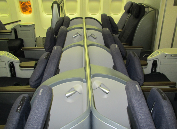 Only United and British Airways offer forward and rear facing business class seats (Chris McGinnis)