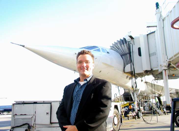 Don't even ask about the hair. But I rode on the Concorde in 2003 (Chris McGinnis)