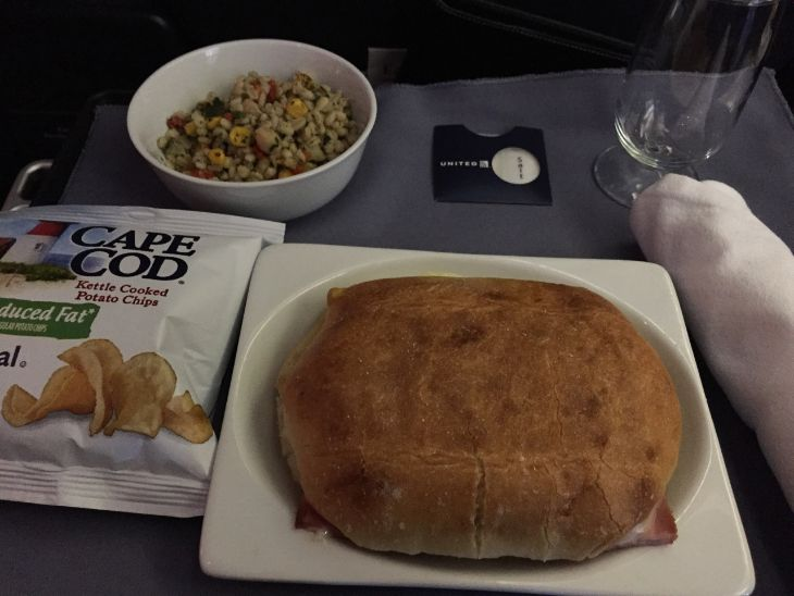 A Cuban Sandwich in United First class (Photo: TJ)