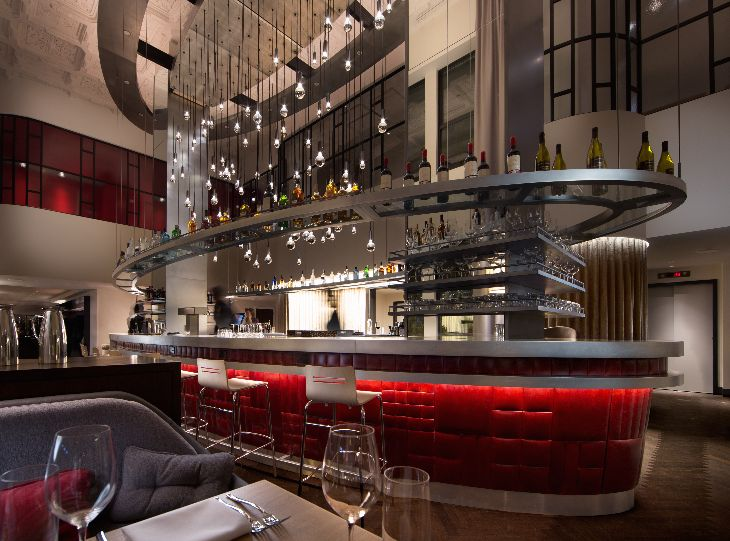 The very glam Commons Club on the hotel's second floor (Photo: Virgin America)