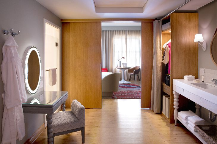 "Efficient but fun Virgin Hotel ""chamber"" (Photo: Virgin America)"