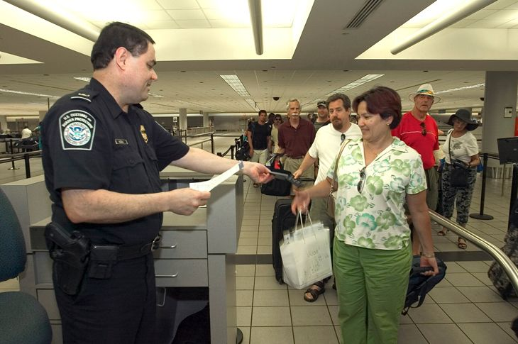 Customs and Border Protection's new arrivals app will reduce waiting time.