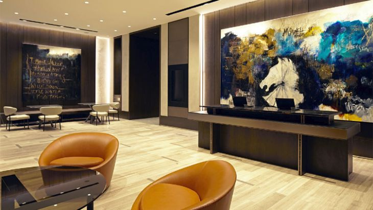 Lobby at the new Hyatt Centric Chicago Loop