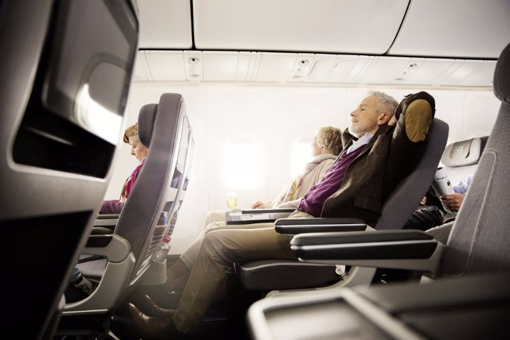 38 inches on seat pitch in Lufthansa's premium economy (Image: Lufthansa)