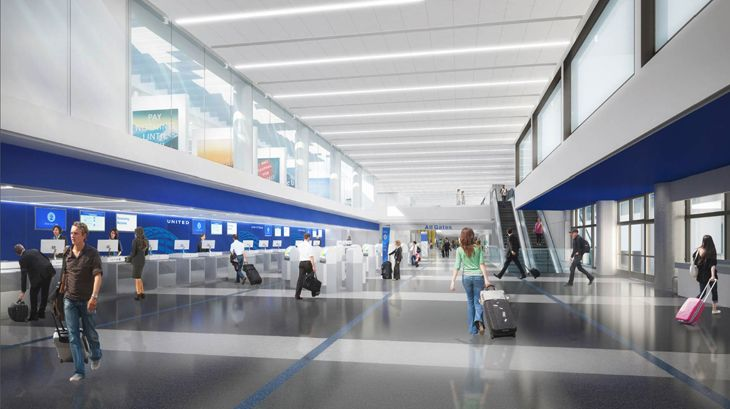 United's planned overhaul of its ticketing area. (Image: United)