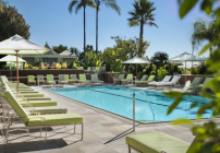 The famously chic rooftop pool at the Four Seasons Bev Hills (Four Seasons)