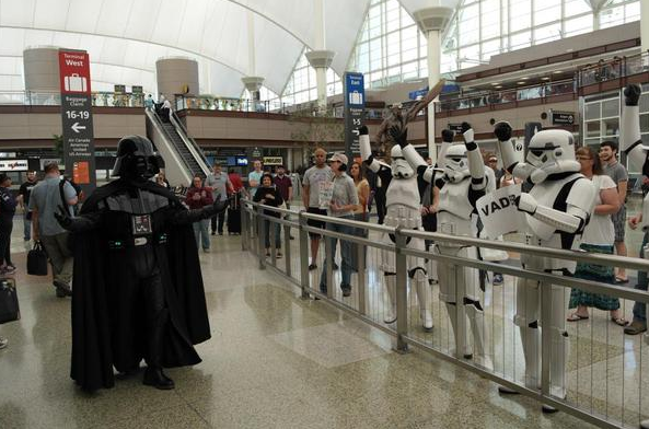 Darth arrives at DIA