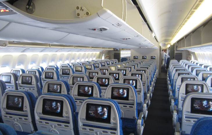 Economy class on Cathay Pacific's  new B777 (Photo: Ramsey Qubein)