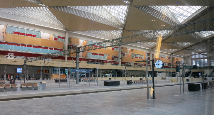 The Zaragoza station is impressively modern and has a hotel (Chris McGinnis)