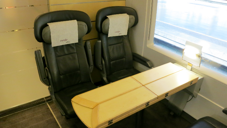 First class seats on Spain's Renfe AVE trains (Chris McGinnis)