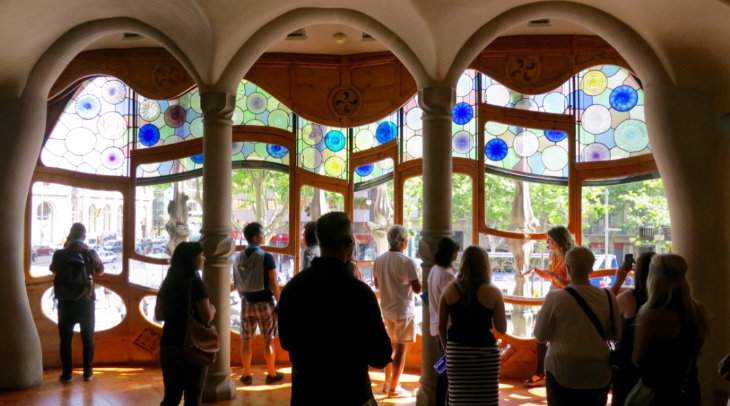 Inside the unusual Casa Batllo on Barcelona's famous Passeig de Gracia (Photo: Chris McGinnis)