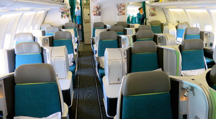 Here's what the business class section looks like without passengers (Chris McGinnis)