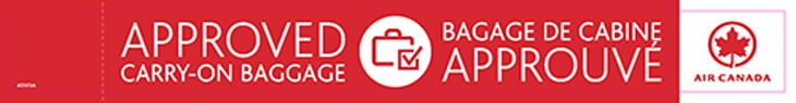 "Carry-ons on Air Canada will need an ""approved"" tag to make it on board. (Image: Air Canada)"