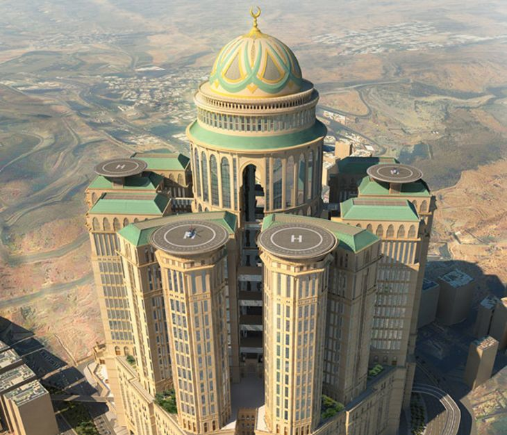 This hotel complex in Mecca will have 10,000 rooms. (Image: Dar Group)
