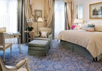 A guest room at the Four Seasons Hotel George V in Paris. (Image: Four Seasons)