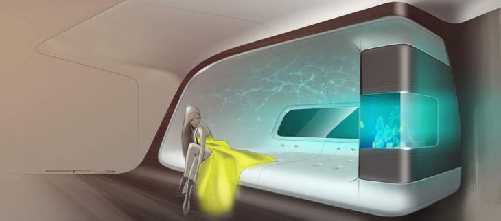 What's a luxury jet without an aquarium? (Image: Mercedes-Benz)
