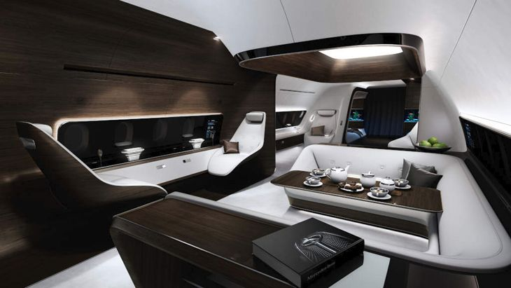 Mercedes wants to reinvent the private jet cabin. (Image: Mercedes-Benz)