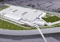 Artist's rendering of O'Hare's big new consolidated rental car facility. (Image: Chicago Dept. of Aviation)